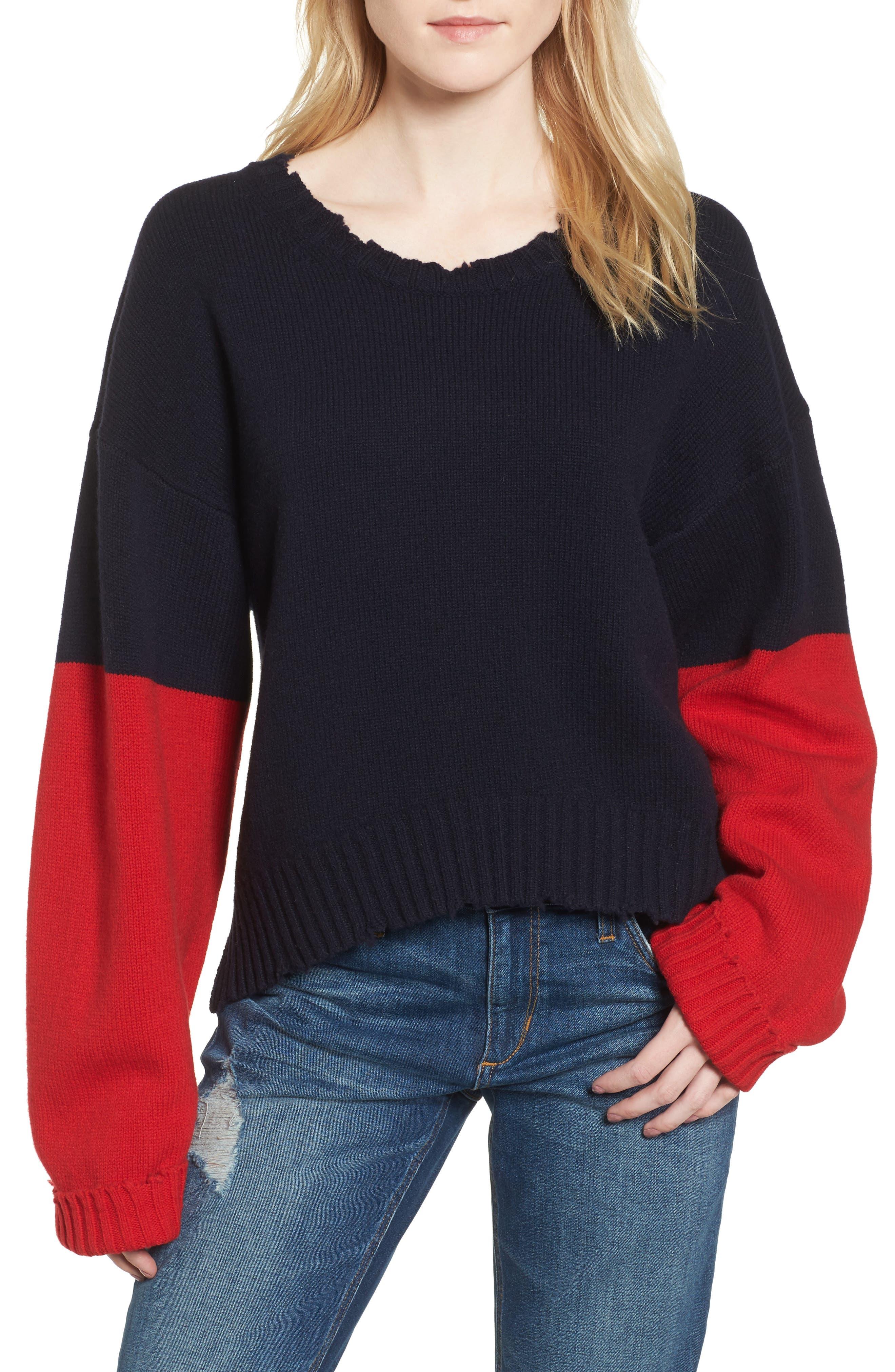 Image of Zadig & Voltaire Clarys Colorblock Merino Wool Sweater