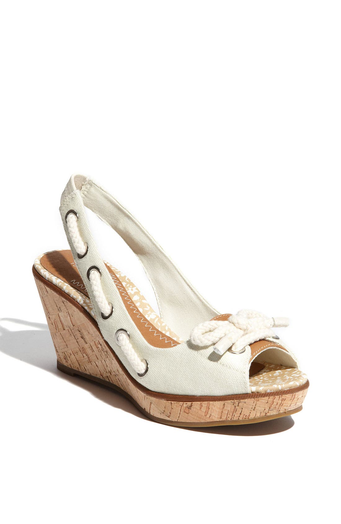 ,                             Top-Sider<sup>®</sup> 'Southport' Slingback Wedge,                             Main thumbnail 6, color,                             100