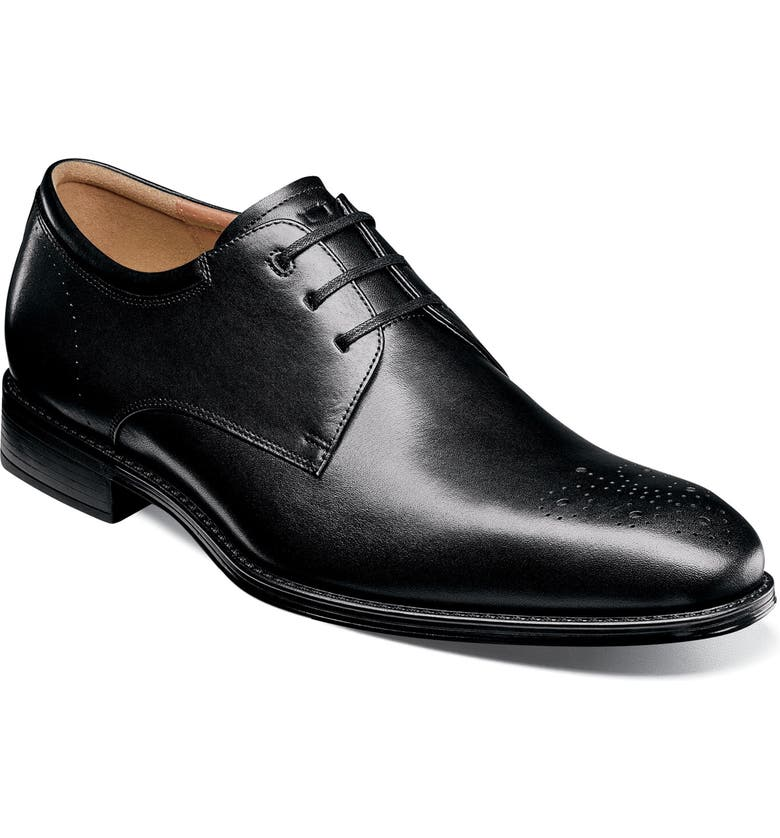 FLORSHEIM Cardinelli Medallion Toe Derby, Main, color, BLACK LEATHER