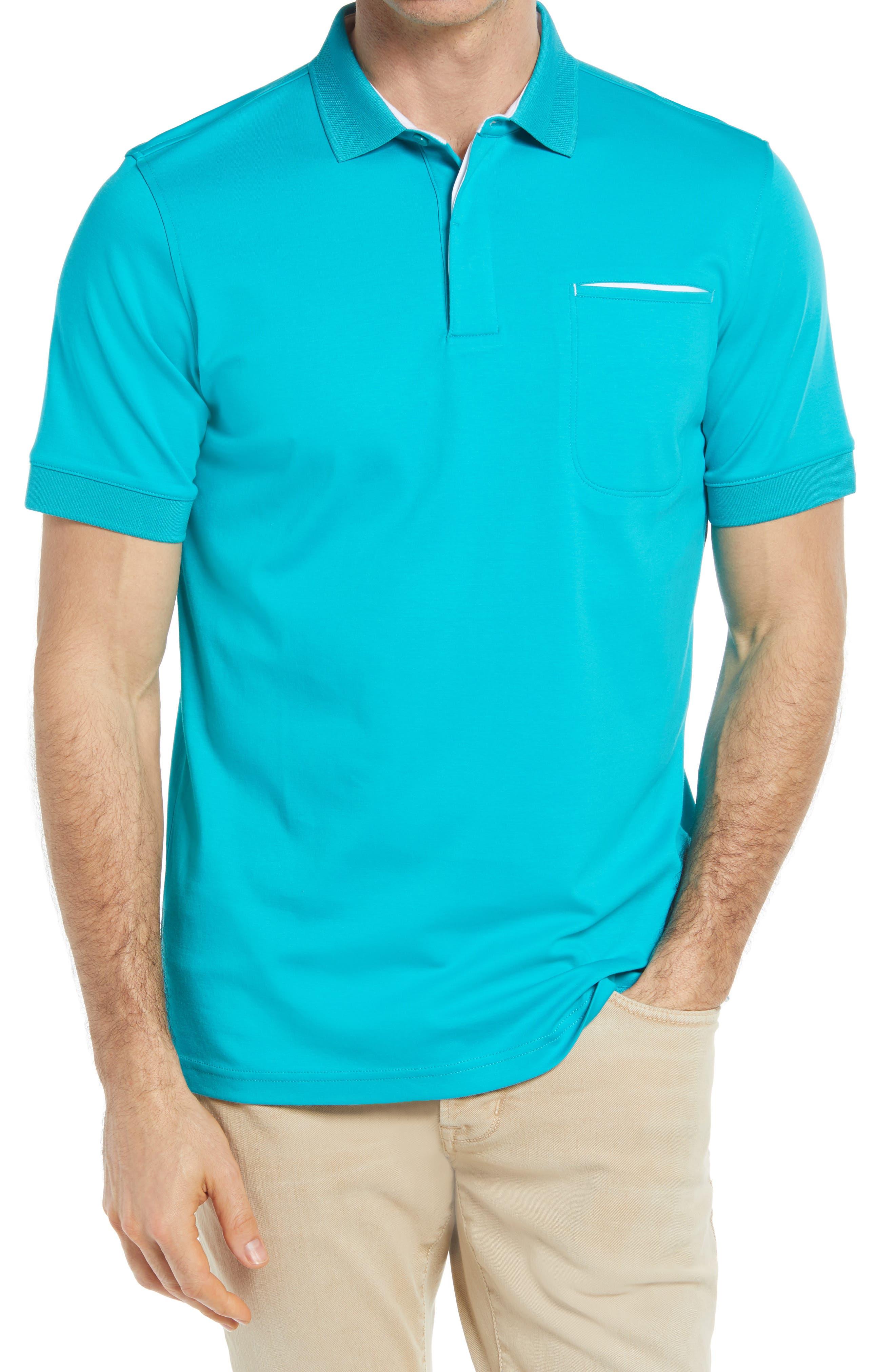 Pima Cotton Short Sleeve Polo Shirt