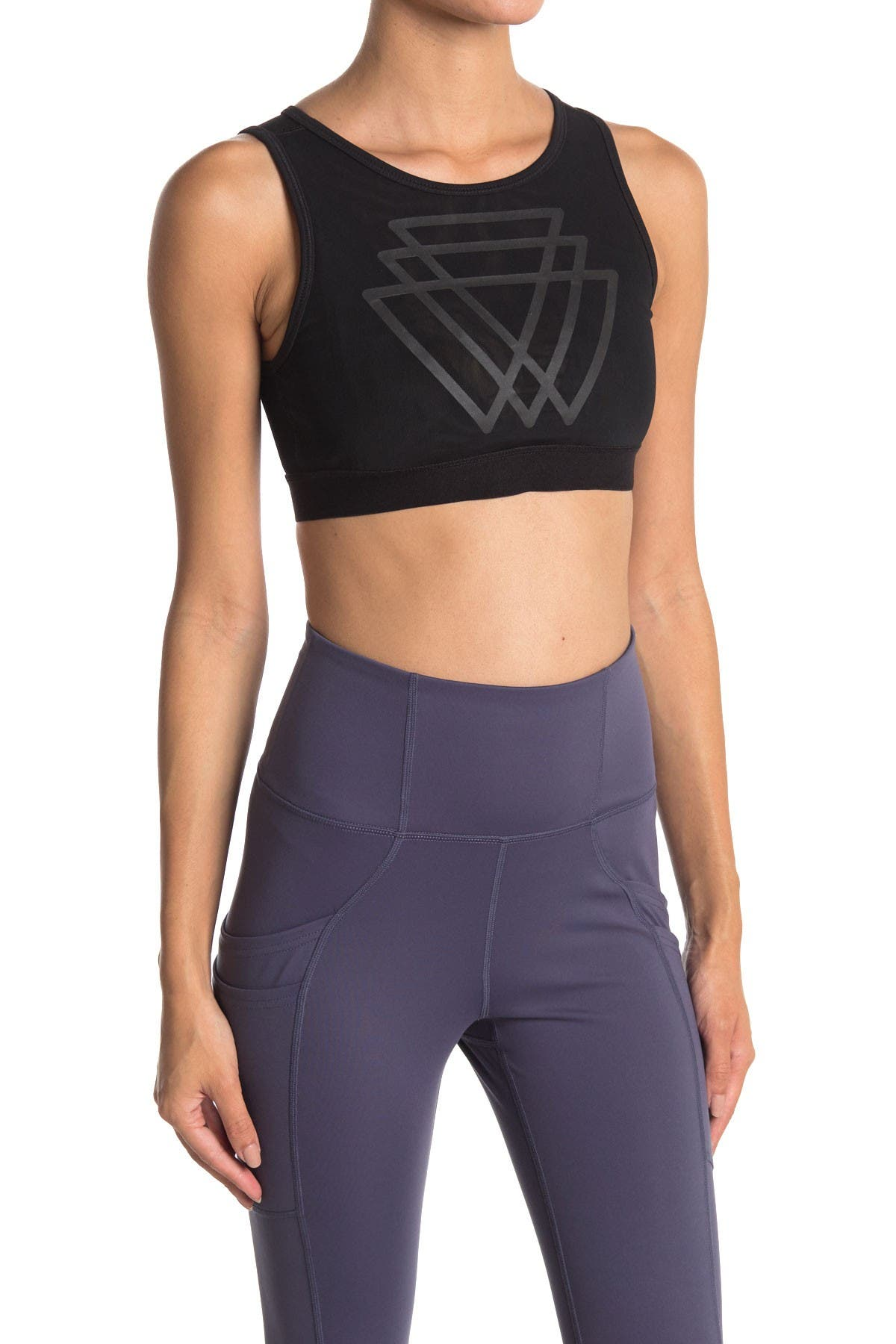 Image of 90 Degree By Reflex Interlocking Triangles Crop Top