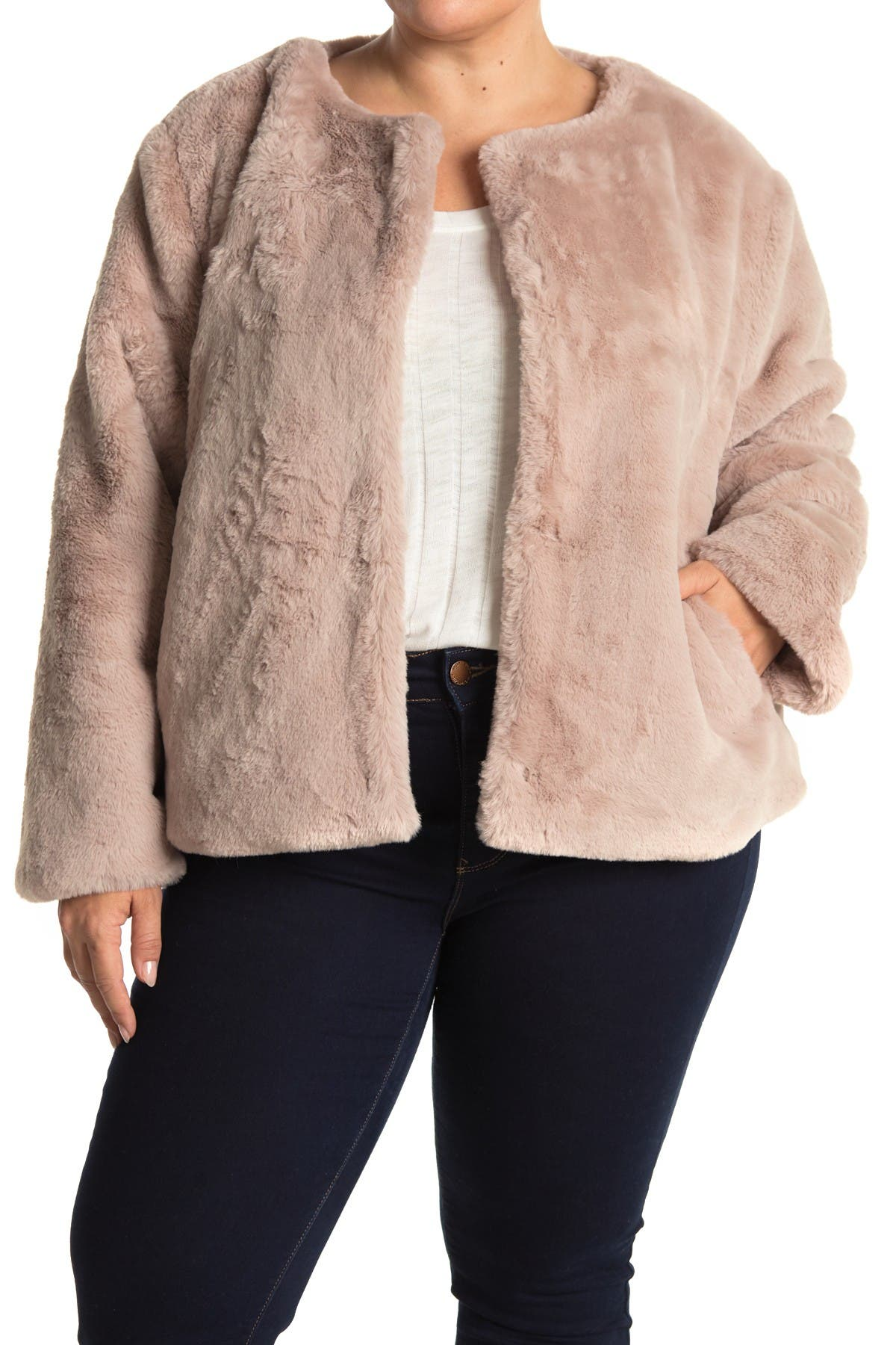 Image of Sanctuary Starry Night Faux Fur Jacket