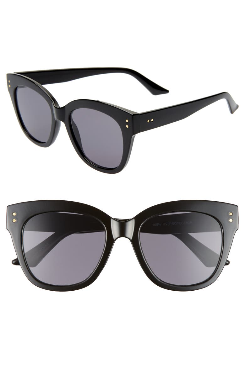 BP. 66mm Oversize Sunglasses, Main, color, BLACK