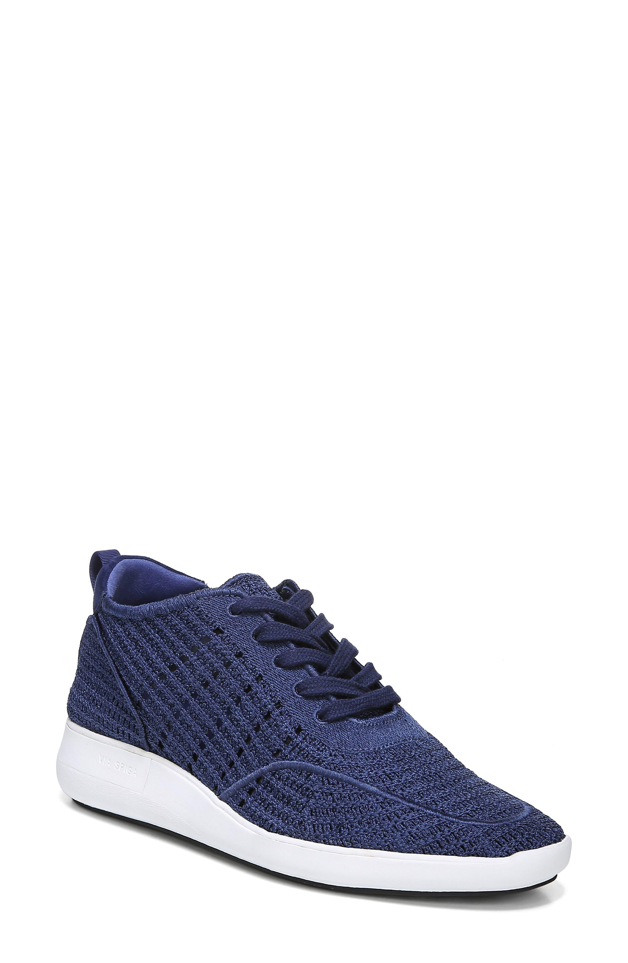 Via Spiga Macra Woven Sneaker, Blue