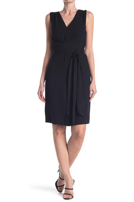 Image of Trina Turk Kaori V-Neck Sleeveless Crepe Dress