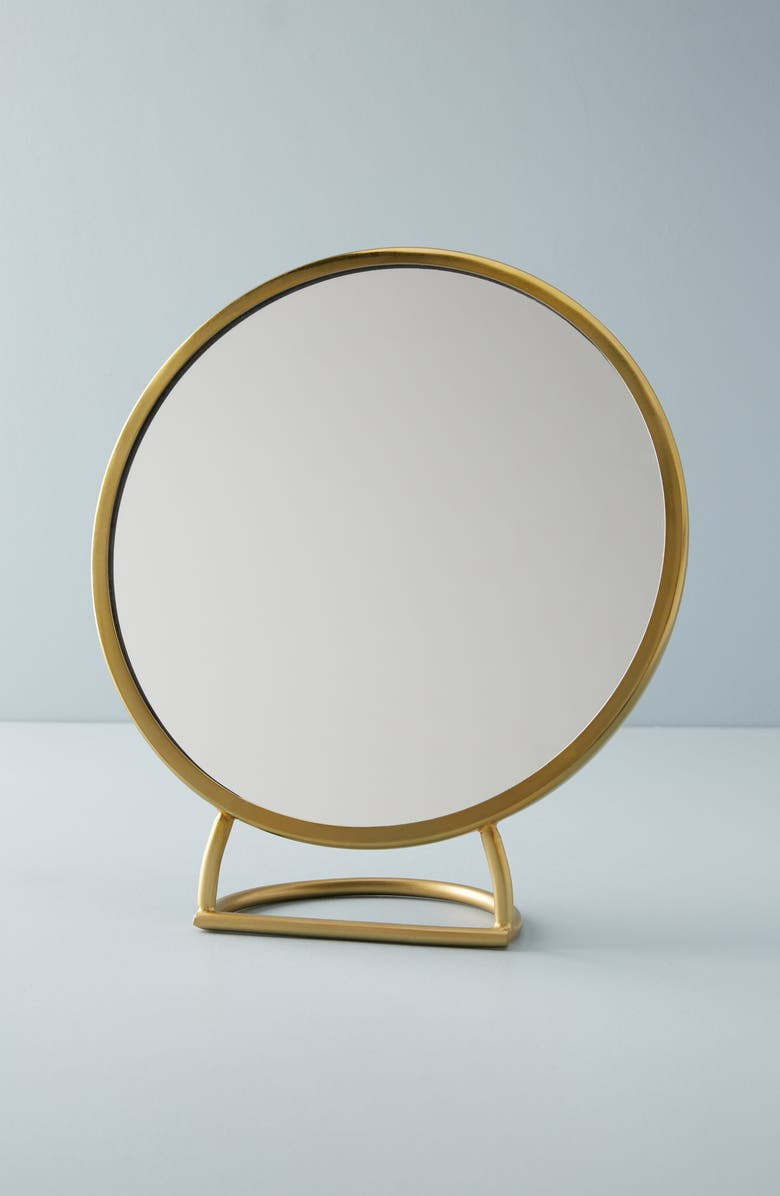 ANTHROPOLOGIE Magnus Table Mirror, Main, color, GOLD