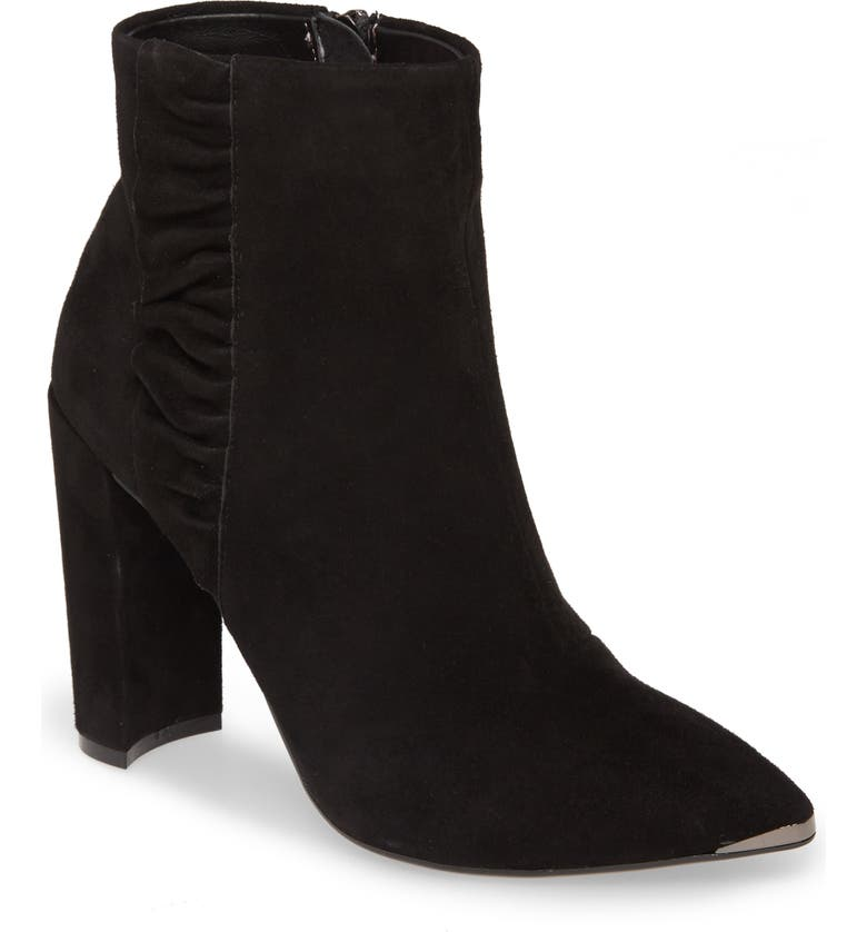 TED BAKER LONDON Frillis Bootie, Main, color, BLACK SUEDE