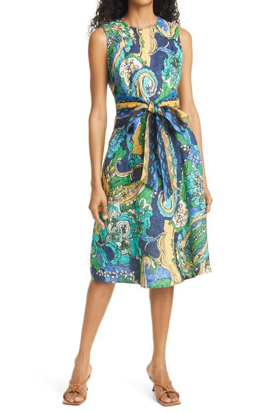 Kobi Halperin SOPHIE FLORAL PRINT LINEN DRESS