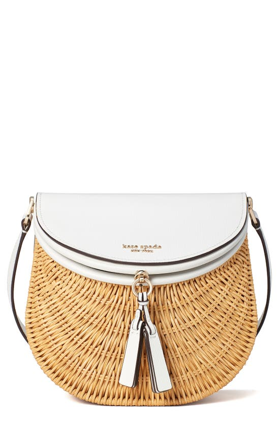 Kate Spade CATCH MEDIUM WICKER CROSSBODY BAG