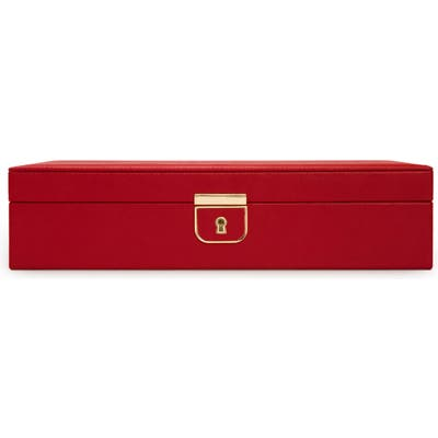 Wolf Palermo Medium Jewelry Box - Red