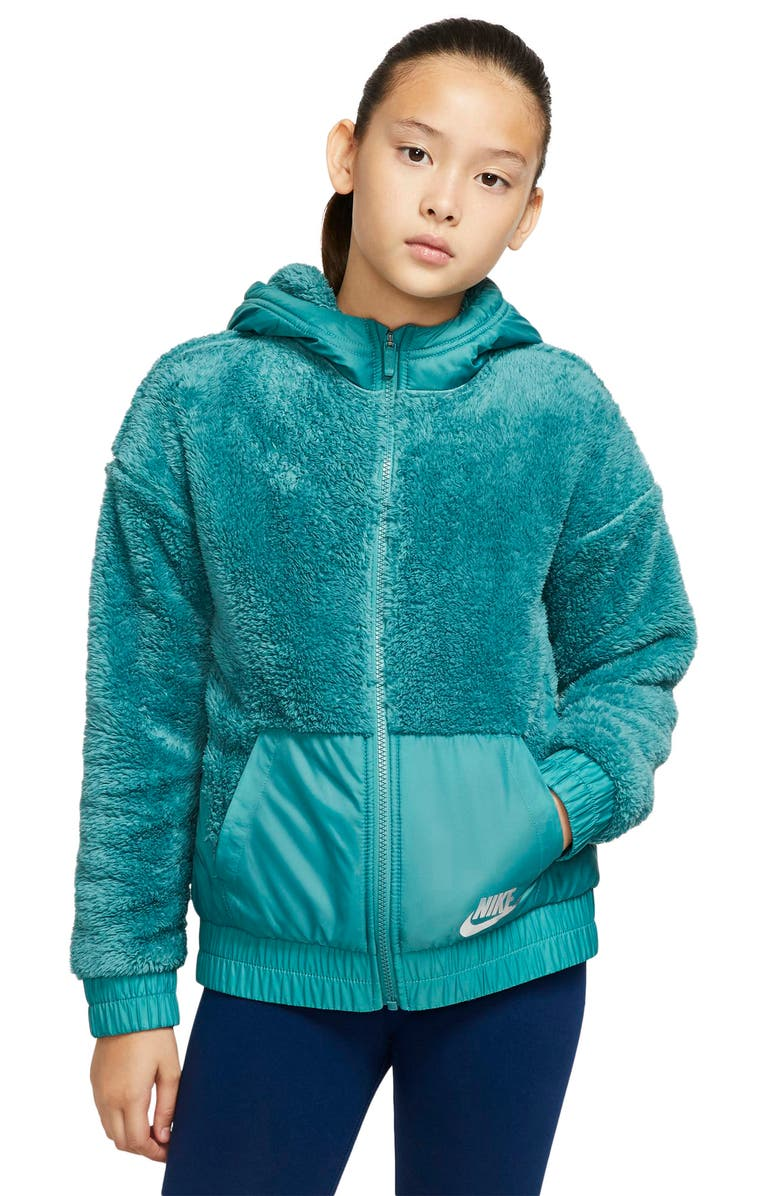NIKE Sportswear Hooded Fleece Jacket, Main, color, 440