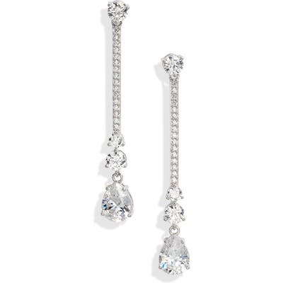 Nadri First Kiss Linear Earrings