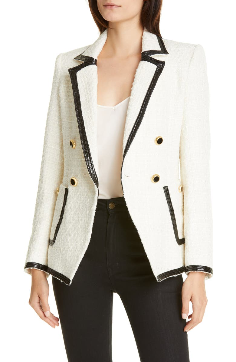 VERONICA BEARD Cato Double Breasted Dickey Jacket, Main, color, IVORY