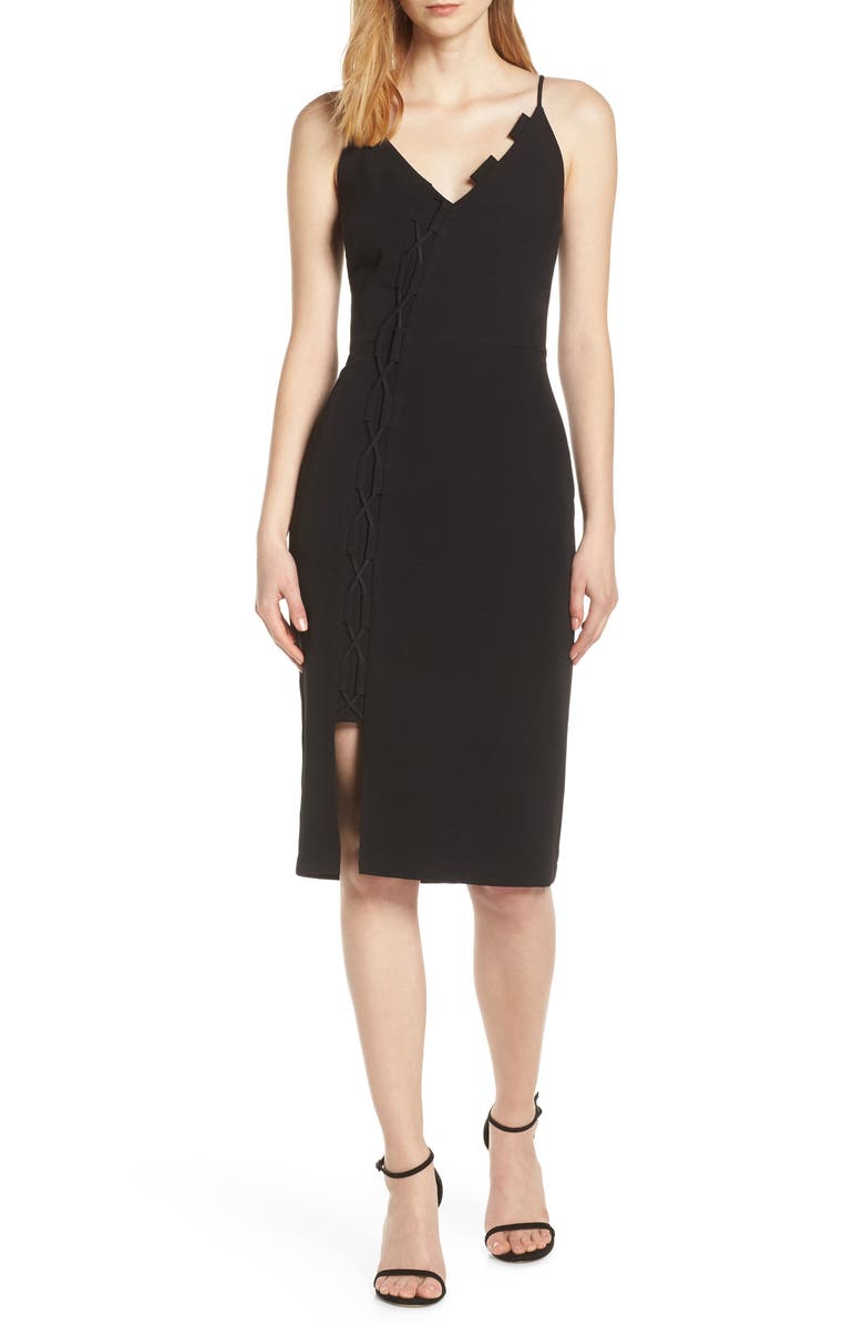 HARLYN Sleeveless Sheath Dress, Main, color, BLACK