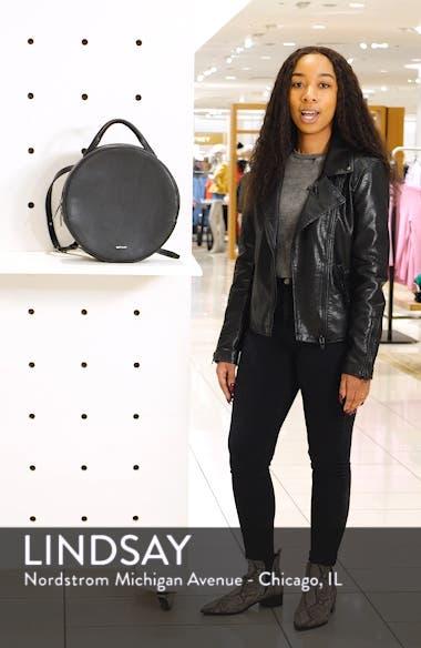 Kiara Faux Leather Circle Backpack, sales video thumbnail