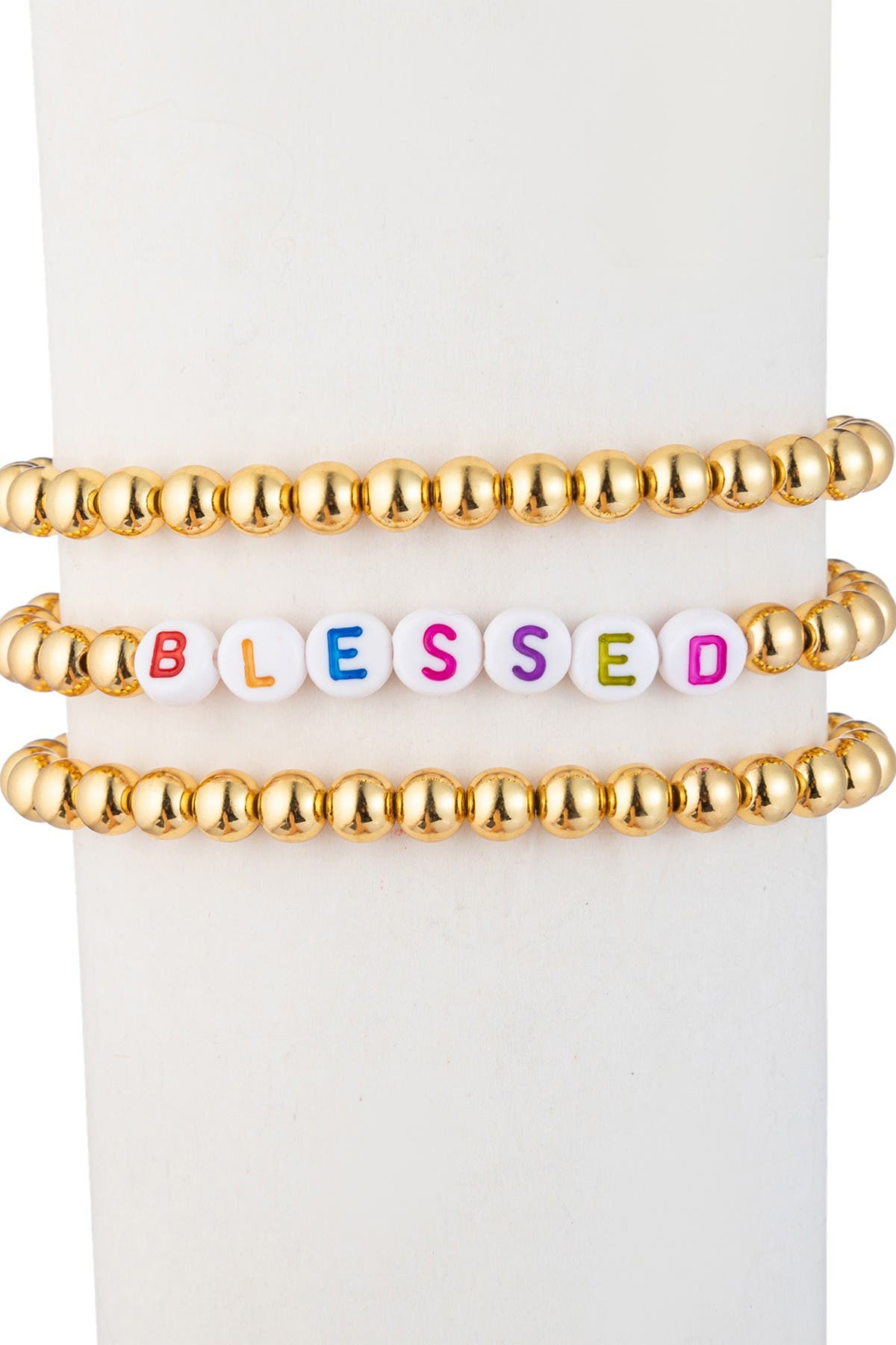 Eye Candy Los Angeles Blessed Titanium Beaded Bracelet Set at Nordstrom Rack