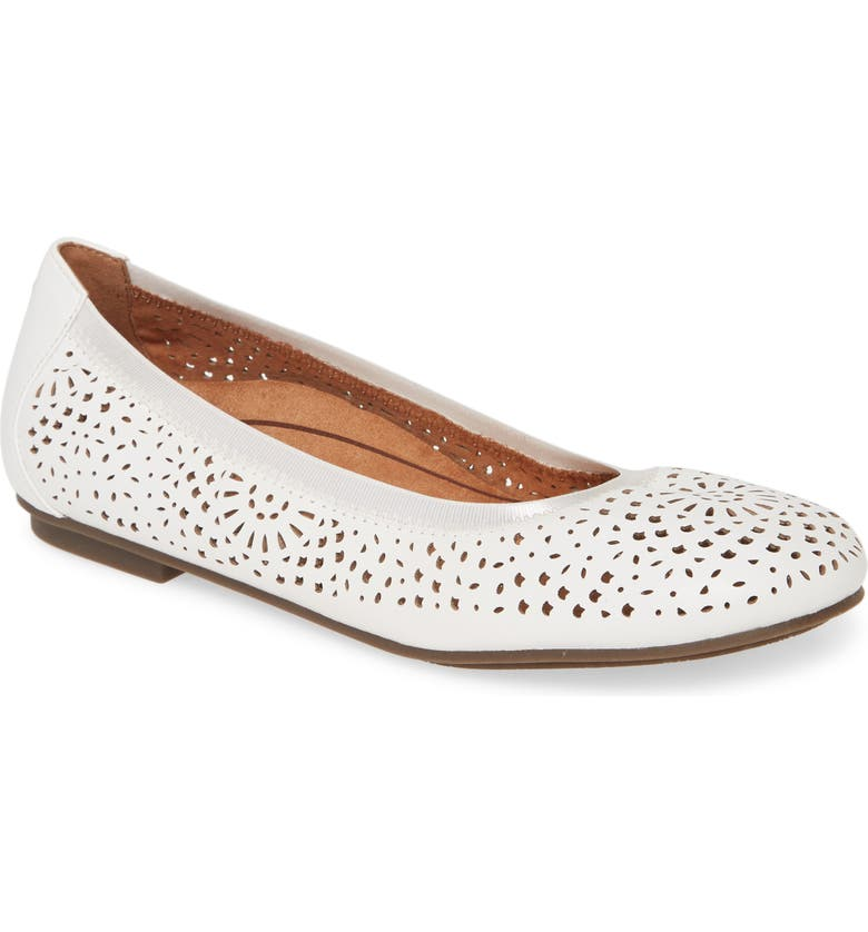 VIONIC Robyn Flat, Main, color, WHITE LEATHER
