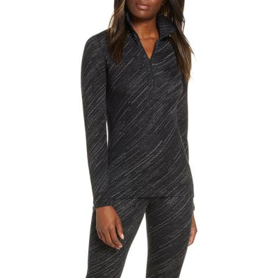 Icebreaker 250 Vertex Merino Wool Half Zip Base Layer Top, Black