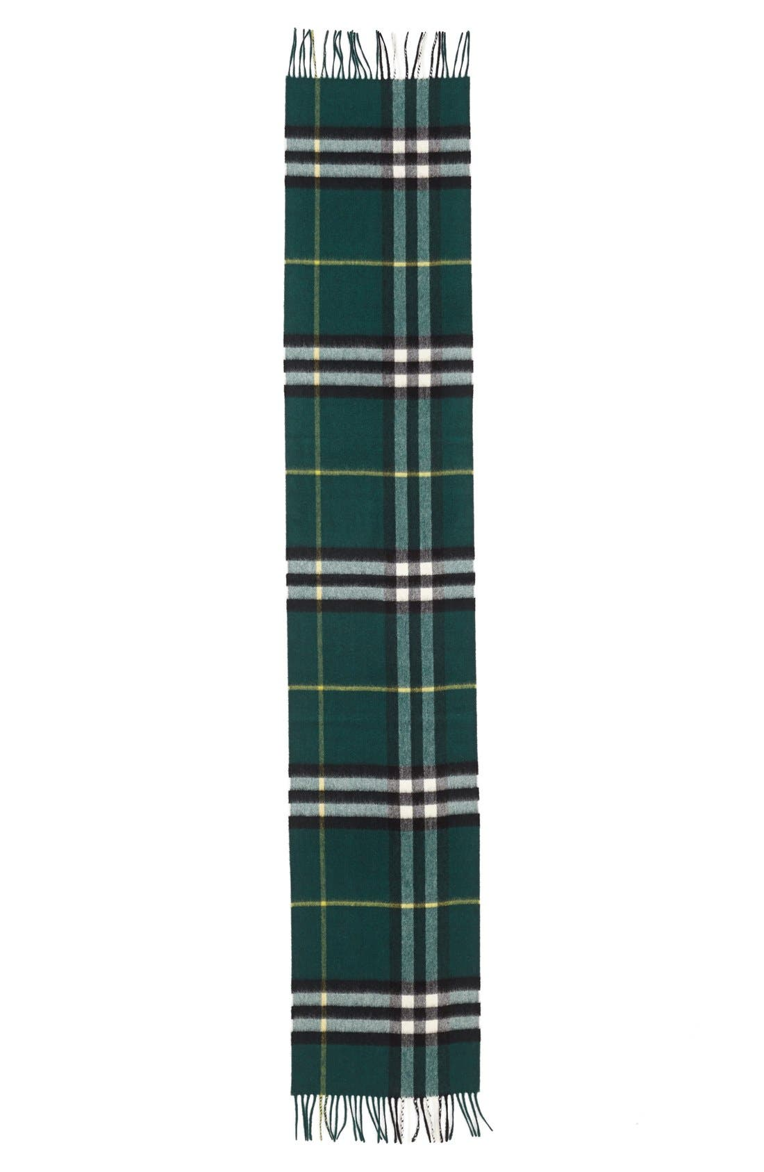 ,                             Heritage Check Cashmere Scarf,                             Alternate thumbnail 25, color,                             318