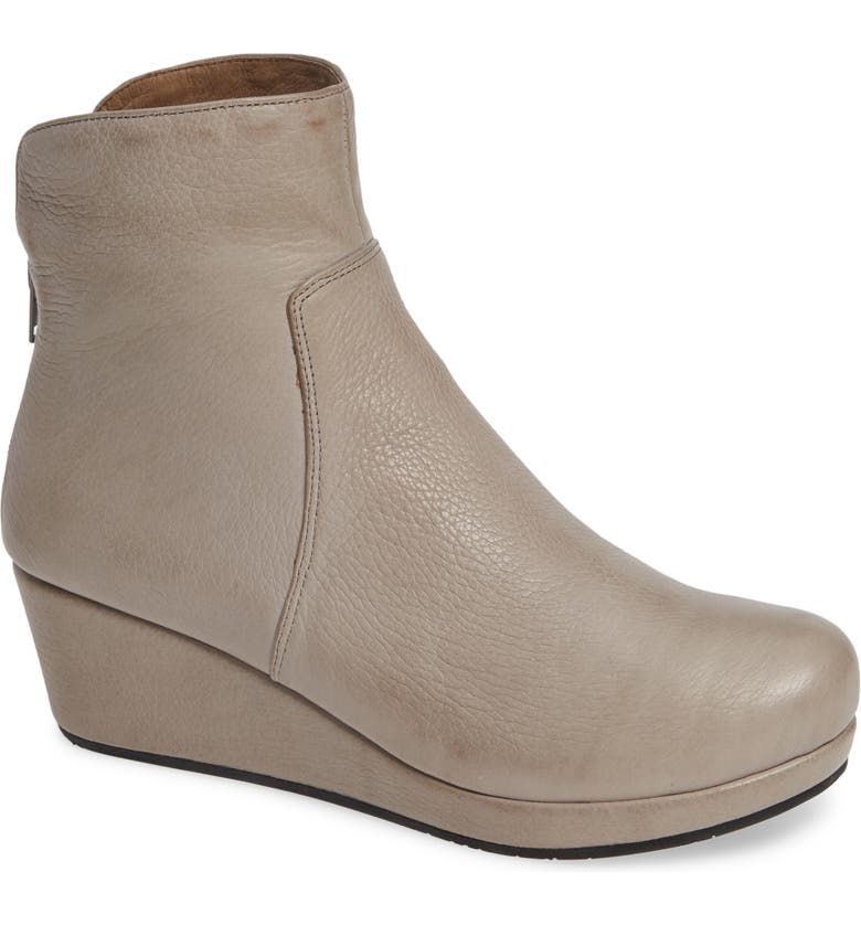 CHOCOLAT BLU Yarden Wedge Bootie, Main, color, GREY LEATHER