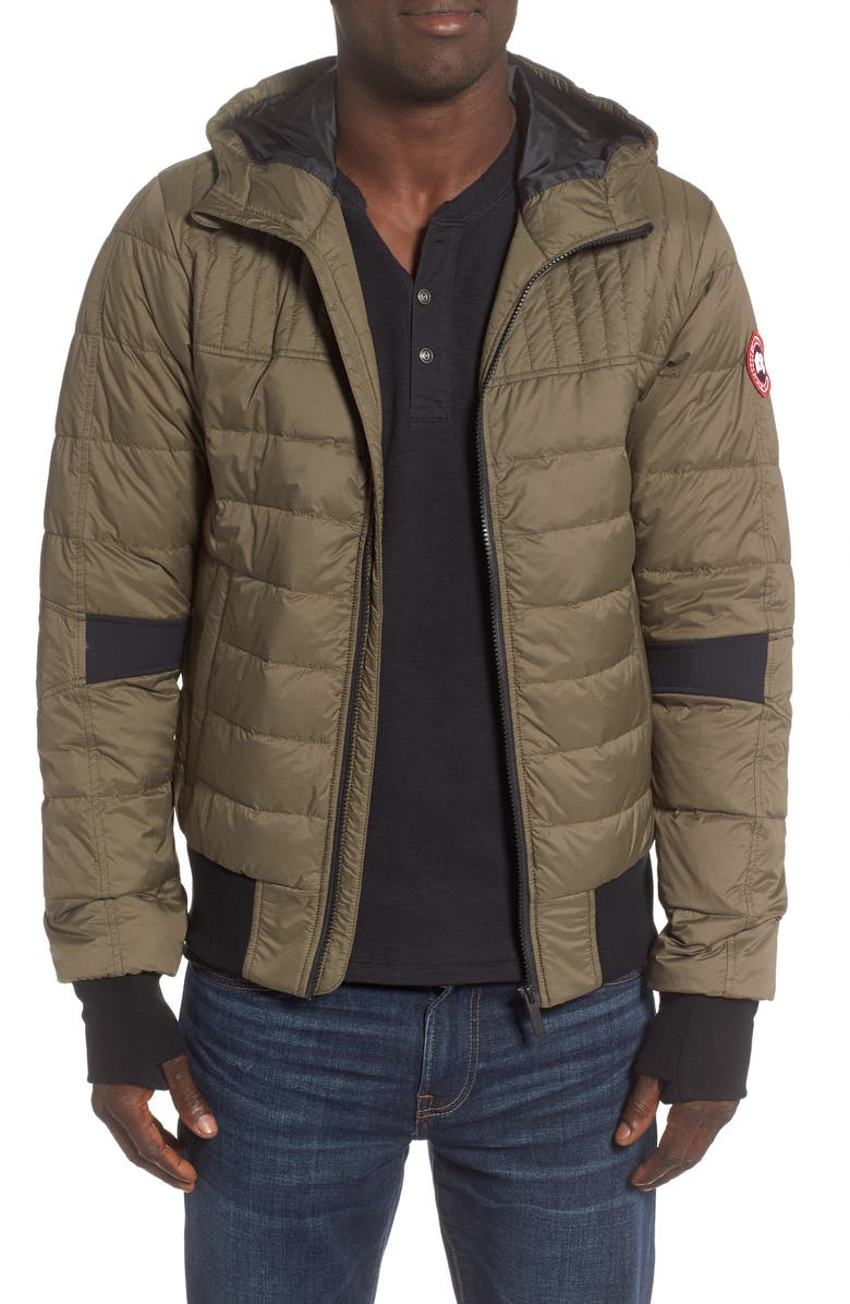 CANADA GOOSE Cabri Hooded Packable Down Jacket, Main, color, MILITARY GREEN