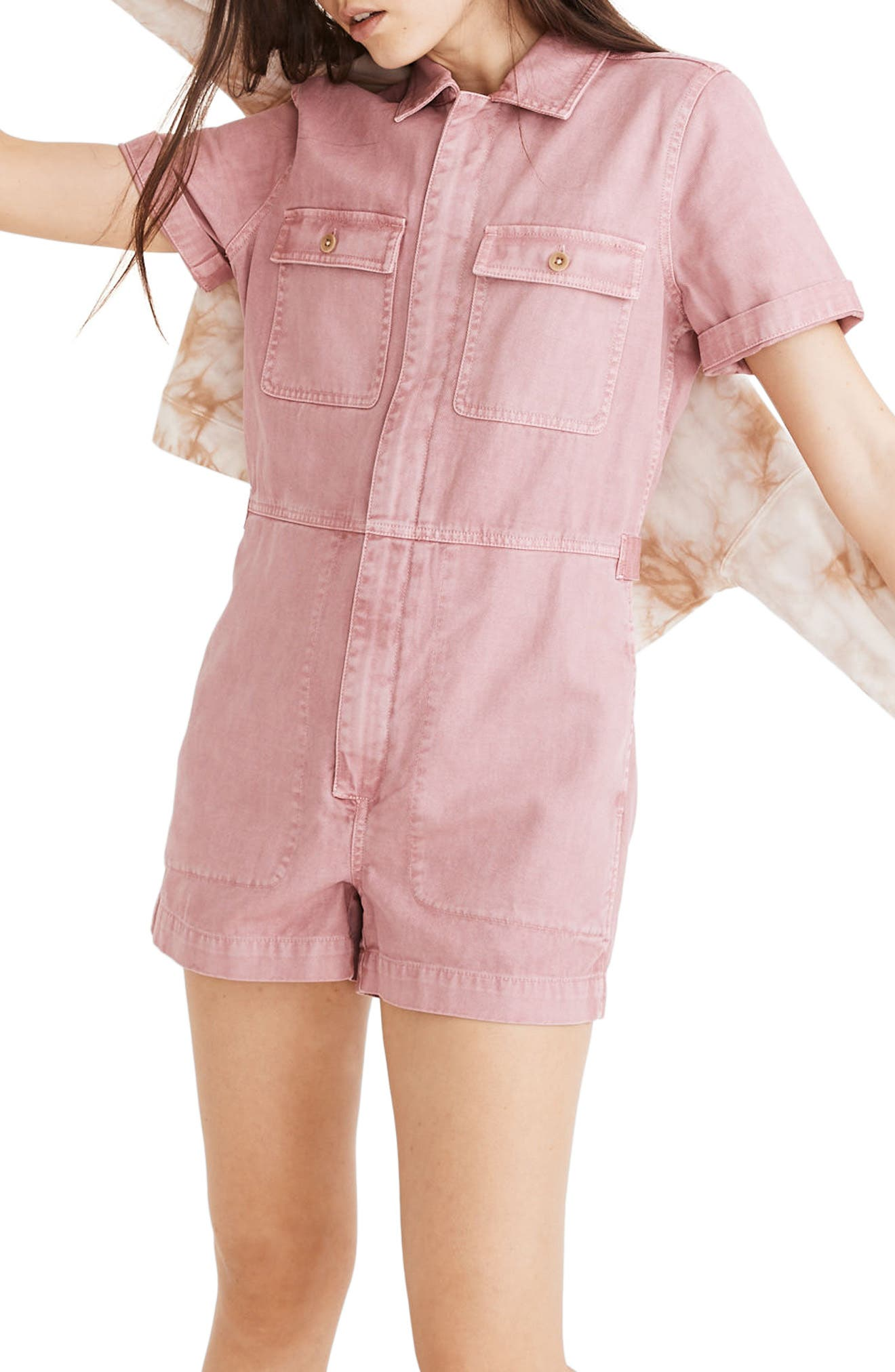 Madewell Garment Dyed Coverall Romper (Regular & Plus Size) | Nordstrom
