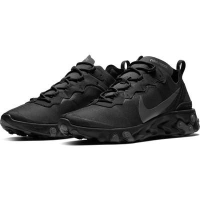 Nike React Element 55 Sneaker, Black