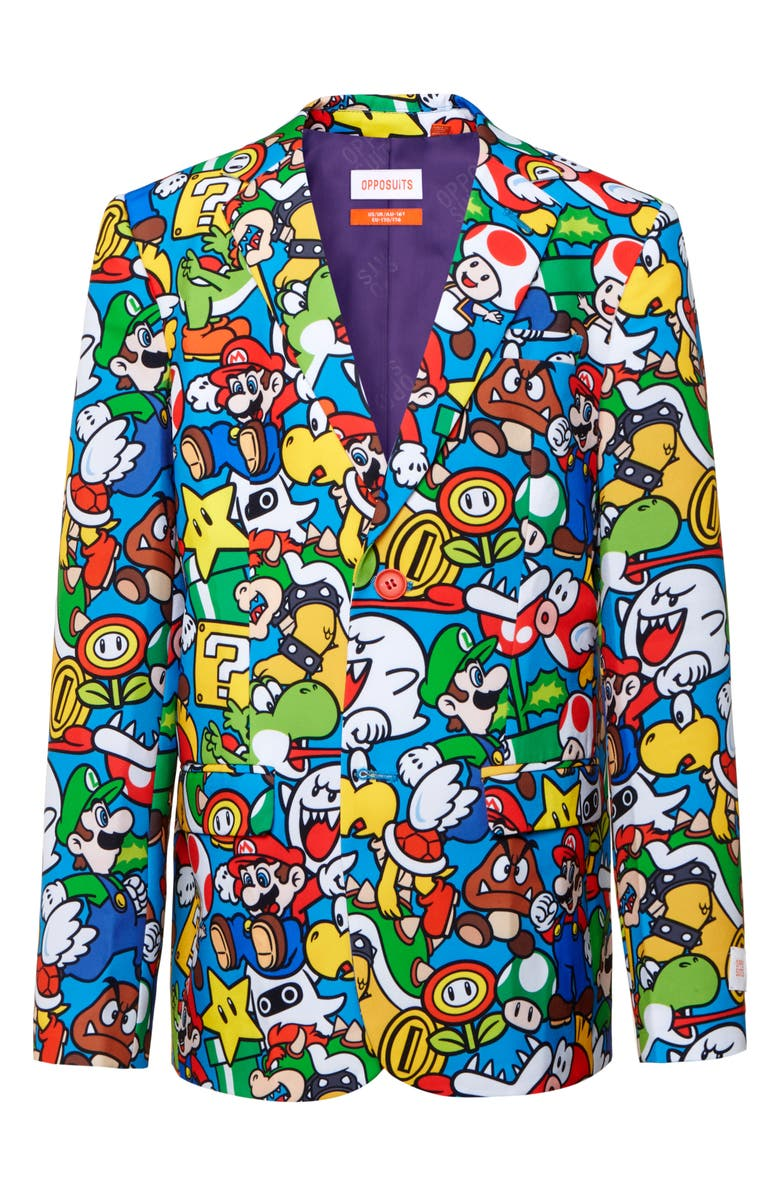 OPPOSUITS Super Mario Two-Piece Suit with Tie, Main, color, 400