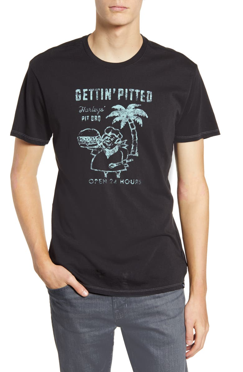 HURLEY Get Pitted Lightweight T-Shirt, Main, color, BLACK