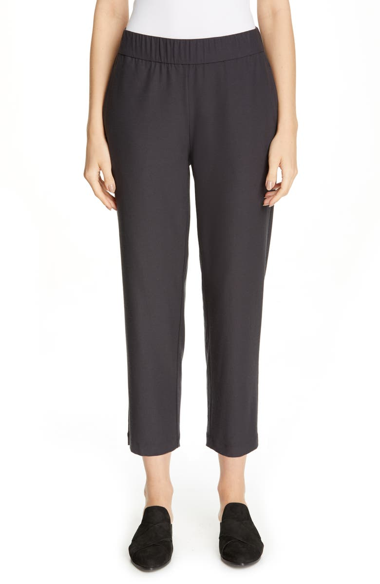EILEEN FISHER Tapered Ankle Pants, Main, color, GRAPHITE
