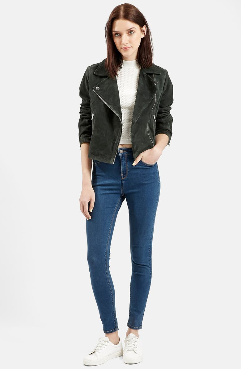 TOPSHOP Suede Caddy Jacket, Main, color, 301