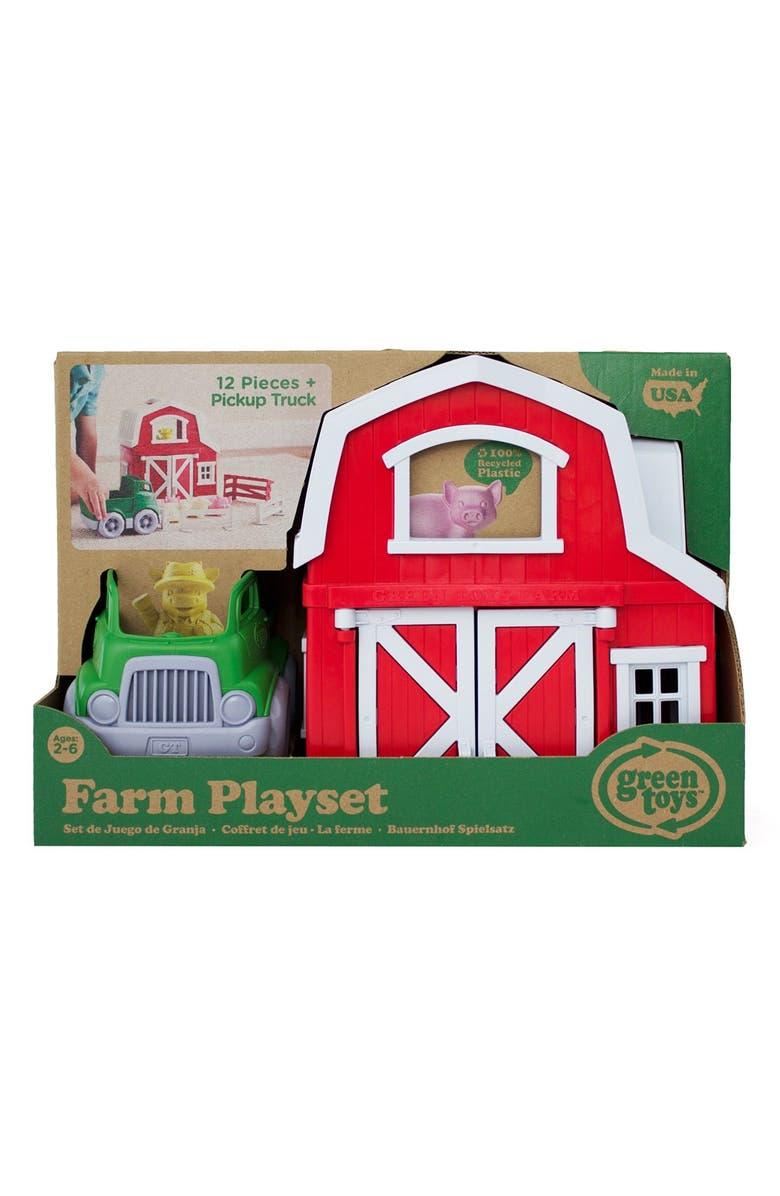 GREEN TOYS Farm Play Set, Main, color, GREEN