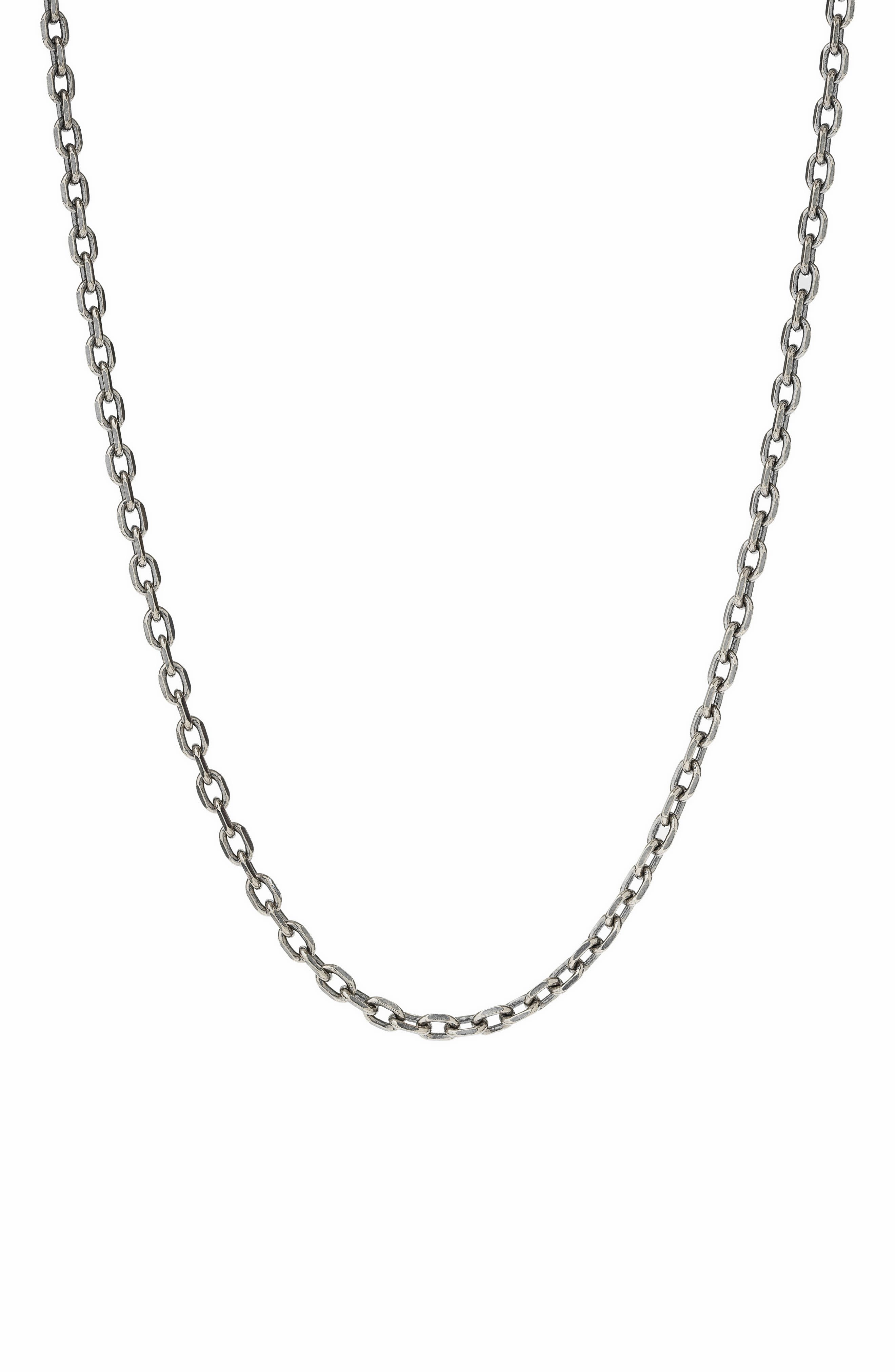 Men's Sterling Silver Knife Edge Chain Necklace