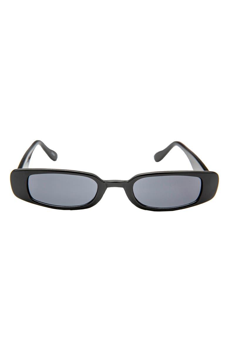 RAD + REFINED Mini Rectangle Sunglasses, Main, color, 001