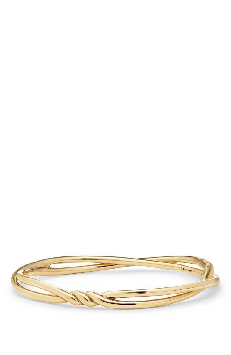 DAVID YURMAN Continuance Center Twist Bracelet, Main, color, YELLOW GOLD
