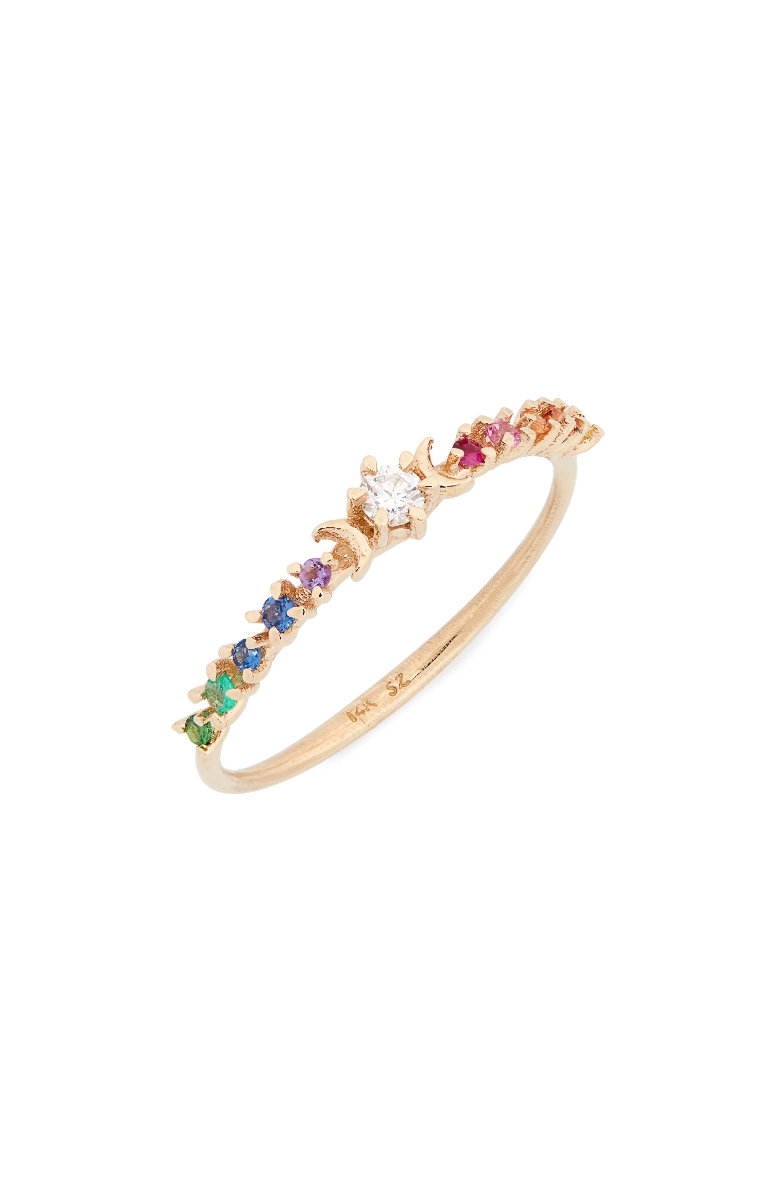 ,                             Stardust Diamond Ring,                             Main thumbnail 4, color,                             711