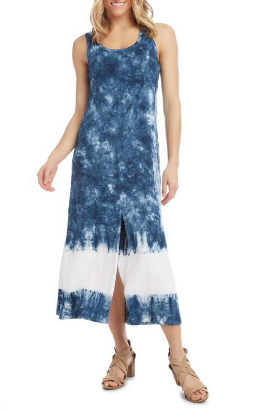Karen Kane SLEEVELESS TIE DYE MIDI DRESS