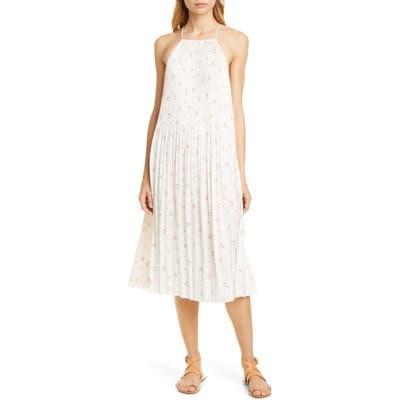 Polo Ralph Lauren Floral Print Plisse Midi Dress, White