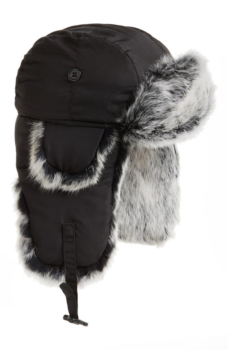22215666046ed Crown Cap Genuine Rabbit Fur Trapper Hat | Nordstrom