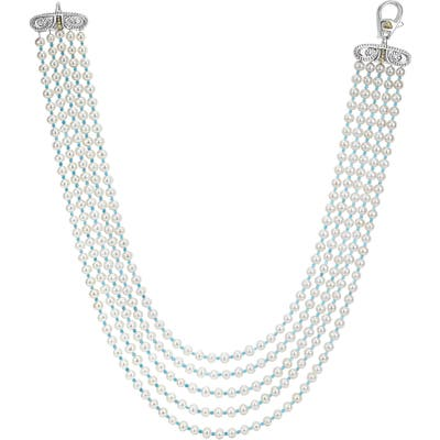 Lagos Caviar Icon Beaded Five Strand Necklace