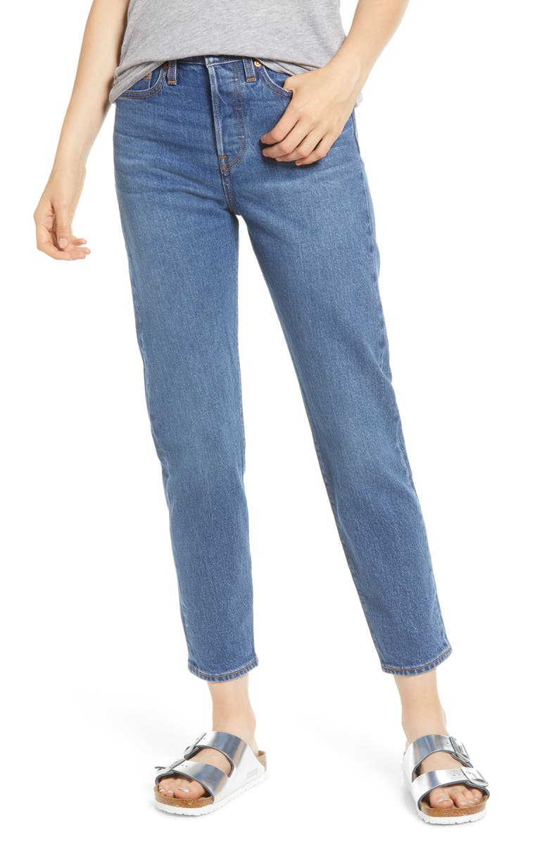 LEVI'S<SUP>®</SUP> Wedgie Icon Fit High Waist Ankle Jeans, Main, color, CHARLESTON MOVES