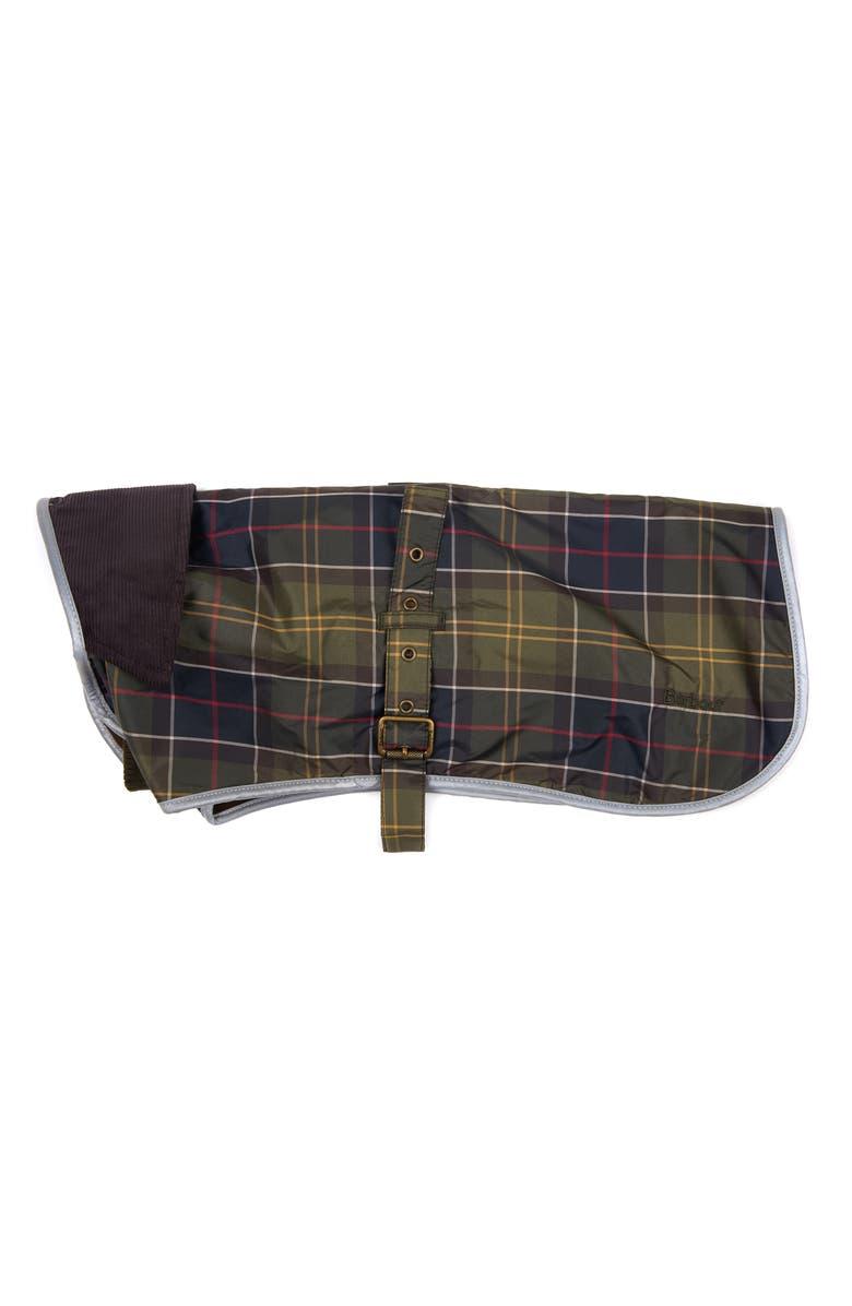 BARBOUR Waterproof Tartan Dog Coat, Main, color, CLASSIC