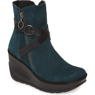 Fly London Jaso Wedge Bootie - Blue