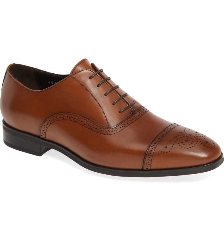 TO BOOT NEW YORK Mezzo Cap Toe Oxford, Main, color, BROWN LEATHER