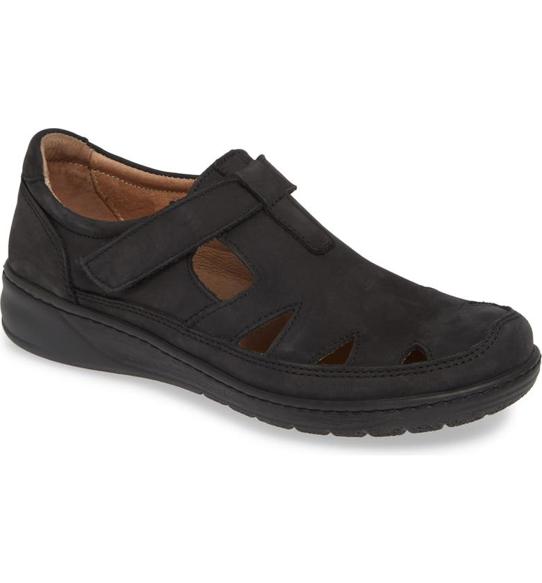 DAVID TATE Catania Walking Sandal, Main, color, BLACK NUBUCK LEATHER
