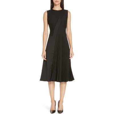 Boss Dionia Fit & Flare Dress, Black