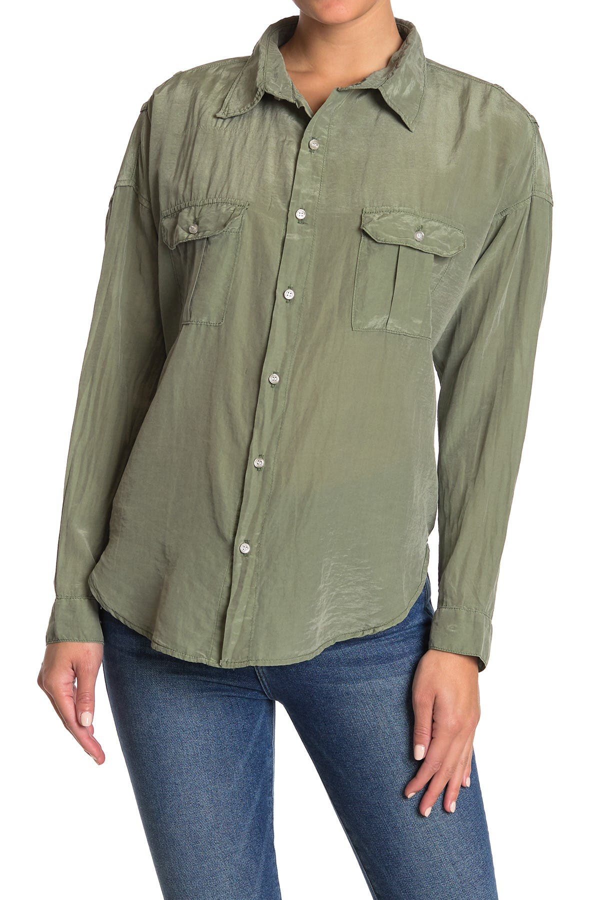 Image of NSF CLOTHING Johnna Long Sleeve Pocket Shirt
