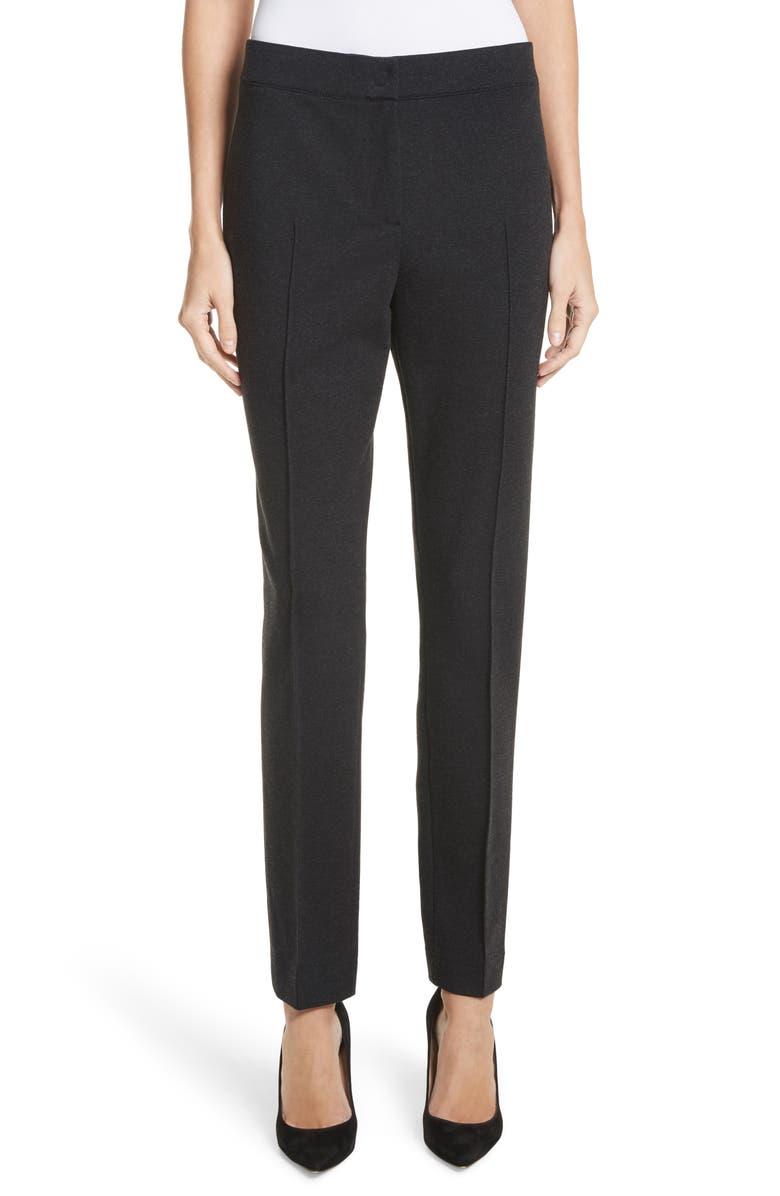 AKRIS PUNTO Jersey Pants, Main, color, CHARCOAL