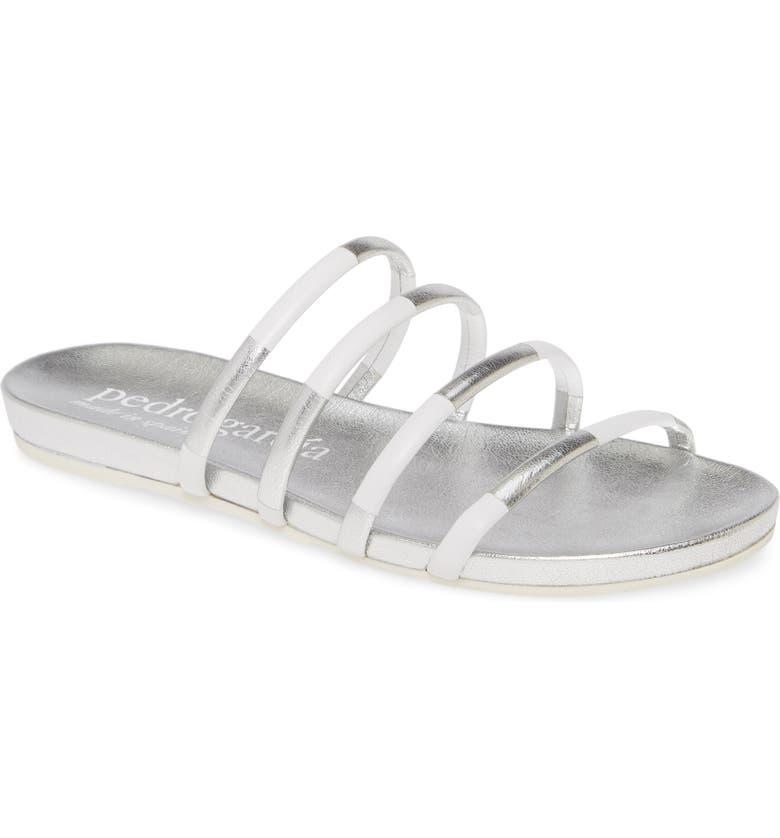 PEDRO GARCIA Guiller Slide Sandal, Main, color, WHITE