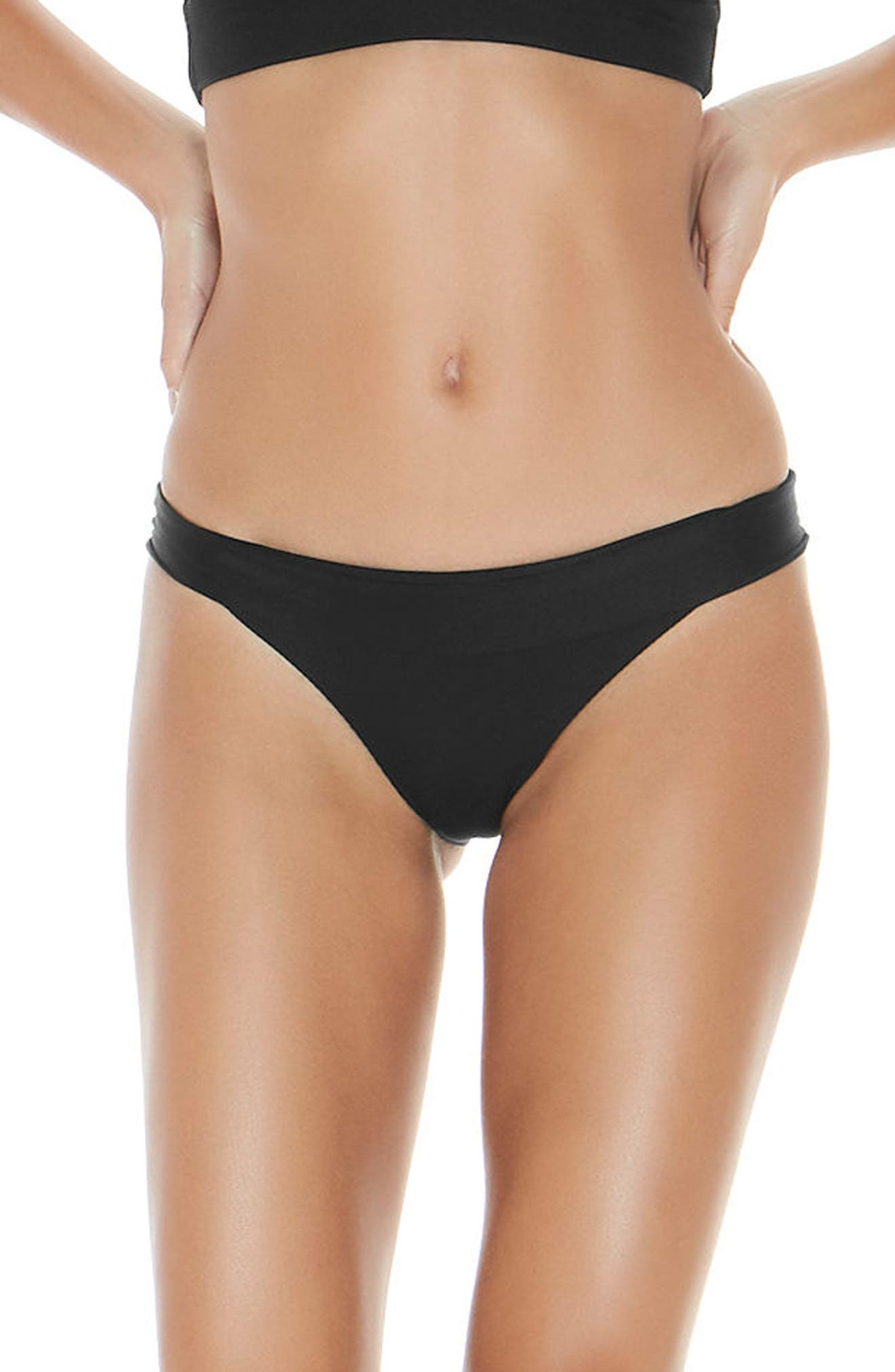 ,                             Veronica Ribbed Bikini Bottoms,                             Main thumbnail 1, color,                             BLACK